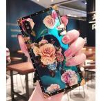 バラ 薔薇 iPhoneケース ゴールド 花柄 おしゃれ 携帯スマホケース iPhone 12 mini SE2 78 Plus iPhon11 12 Pro MAX アイフォンXS MAX XR スクエア型