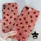 ハート柄 ピンク シェル iPhoneケース かわいい 携帯スマホケース アイフォン11 ProMAX XS MAX XR 78 Plus iPhone SE2 第2世代 ソフトケース