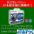 送料無料 即納  フィリップス エクストリーム アルティノン LEDフォグランプ  フォグ ユニバーサル H8/H11/H16 6200K 12834 UNIX2J
