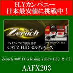 送料無料 CATZ HID Zeruch(ゼルク)30W FOG Rising Yellow H3C セット AAFX203