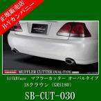 SilkBlaze(シルクブレイズ) マフラーカッター オーバルタイプ シルバー 18クラウン(GRS180) デュアル2個セット  SB-CUT-030