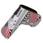 スコッティキャメロン適用 パターカバー ピンタイプ用 マジックテープ開閉式 米国旗柄 送料無料
