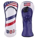ウッドFW 3 5 用  ヘッドカバー 米国旗柄 USA Flag カ