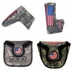 パターカバー ヘッドカバー ピンタイプ マグネットタイプ スコッティーキャメロン オデッセイに適合 刺繍入り USA 米国旗柄 送料無料