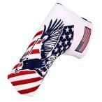 パターカバー ヘッドカバー スコッティーキャメロン オデッセイに適合 ピンタイプ用 米国旗鷲柄 送料無料