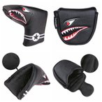 パターカバー ヘッドカバー オデッセイ 2ボールに対応 マレット用 マグネットタイプ スコッティーキャメロン オデッセイに適合 ピンタイプ用 サメ 送料無料