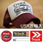 TRUCK BRAND メッシュ キャップ メンズ  帽子 メッシュキャップ レディース トラックブランド S15 ホワイト/マルーン 白
