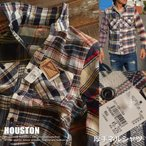 HOUSTON ヒューストン 厚手 ネルシャツ メンズ カジュアルシャツ 40120CZ-02【UNI】■03170828