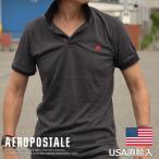 USA購入 エアロポステール ポロシャツ ワンポイント刺繍 メンズ AEROPOSTALE 6047-9092-001 ブラック 黒