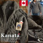 【11%OFF】Kanata カナタ カウチンセーター メンズ レディース ジャケット ブラック■04161015