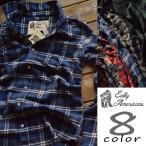 ネルシャツ メンズ Eally Americans フランネルシャツ カジュアルシャツ チェック柄 8柄