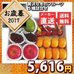 送料無料 メーカー直送 代引不可 数量限定 お歳暮 贅沢な冬のフルーツ5種詰合せ 果物 フルーツ セット お取り寄せ