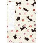 くろちく 御朱印帳特大 猫 ベージュ 和 日本 モダン 京都 和装小物 母の日