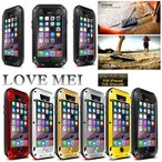 iPhone6s ケース iPhone6 ハードケース LOVE MEI 防水 防塵 防滴 耐衝撃 ストレートアルミメタル iphone アイフォン アイフォンケース スマホケース