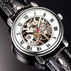 手巻き腕時計ロイヤルクラシック ダブルスケルトン プラチナ