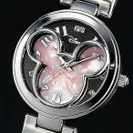 ショッピングミッキー ミッキー85周年記念フェイスウォッチ 天然ダイヤモンド腕時計 ピンク