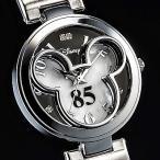 ショッピングミッキー ミッキー85周年記念フェイスウォッチ 天然ダイヤモンド腕時計 ホワイト