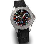 ラッキーベル スターリーヘブンズ イタリア腕時計 シルバー ブラック
