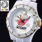 ショッピングムーミン 70周年記念ムーミン腕時計 リトルミイ ハイブリッド セラミックウォッチ ホワイト