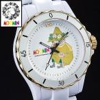 ショッピングムーミン 70周年記念ムーミン腕時計 スナフキン ハイブリッド セラミックウォッチ ホワイト