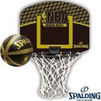 壁掛け室内用ミニバスケットゴール SPALDING NBAハイライト ミニビニールボールセット スポルディング77-587Z Q13