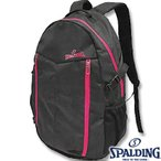SPALDINGキャンパー ピンク バスケットボールリュック 収納バスケバッグ 合宿向け スポルディング40-002PK