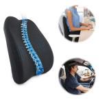 SEG Direct 姿勢を正す メモリーフォーム 腰サポートクッション 車内、オフィス、車椅子等用の設計