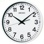 セイコー クロック 掛け時計 衛星 電波 アナログ 防湿 防塵型 金属枠 白 GP201W SEIKO