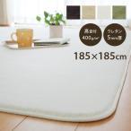 ラグカーペット「フラン」 (tm) 185×185cm 約2畳 ホットカーペットカバー 2畳 シンプル フランネル ラグ カーペット 正方形 床暖房 電気カーペット