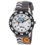 ディズニー キッズ 腕時計 カーズ2 フィン・マックミサイル Disney Kids' W000368 Cars Stainless Steel Time Teacher Black Bezel Printed Strap Watch
