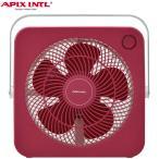APIX アピックス スクエアファン レッド AFS-260-RD ボックスファン 扇風機