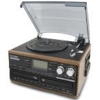 DCT 木目調 ダブルCD録音機能付 マルチレコードプレーヤー | DCT-7000W | CDへ直接録音可能 | 1年保証付