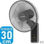 SKJ 壁掛け扇風機 | SKJ-K309WFR2 | 全2色 | 30cm 5枚羽根 | 3段階風量 | リモコン付 | エスケイジャパン 1年保証