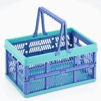 环保袋 - 折りたたみ コンテナ バスケット 大容量 ボックス 耐荷重7kg 使わない時はコンパクト収納 買い物かご 収納箱 アウトドア用品 ◇ 折りたたみ式コンテナバスケット