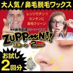 ◆鼻毛が無傷でズッポリ抜ける◆ 痛くない!話題のズポーン 根元から引き抜くタイプの脱毛ワックス 1ヶ月効果が持続 かんたんノーズクリーナー ◇ お試し 2回分
