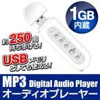 【激安セール】データ保存&17時間分の音楽が収録可能!USBフラッシュメモリー ポータブルMP3プレーヤー 1GB内蔵 電池式 ◇ デジタルオーディオプレーヤー1GB/WH