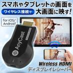 Wi-Fi ワイヤレス レシーバー HDMI スマホ映像を大画面で映す iPhone iOS Android PC ディスプレイ テレビ 高速転送 ミラーリング 高解像度 ◇ ワイヤレスHDMI