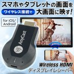 Wi-Fi ワイヤレスレシーバー 高画質HDMI スマホ映像を大画面で映す iPhone iOS Android ディスプレイ 高解像度 テレビ 高速転送 ミラーリング ◇ ワイヤレスHDMI