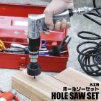 木工用 ホールソー 16点セット 収納ケース付 プロ仕様 全12サイズ 19mm−127mm対応 穴あけ 工具 ホルソー 16PCS 木工作業 DIY 簡単 ◇ 木工用ホールソーセットの画像