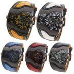 relojes 腕時計 メンズ 時計 防水 アナログ スポーツ腕時計メンズカジュアルレザーストラップ腕時計ファッション男性クォーツ時計ミリタリーウォ