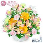 4月の誕生花(アルストロメリア) お祝い 記念日 お礼 誕生日 プレゼント 花キューピットのアルストロメリアのアレンジメント