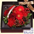 12月の誕生花(赤バラ等) 花キューピットのボックスフラワー