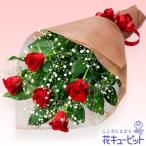 12月の誕生花(赤バラ等) 花キューピットの赤バラの花束 誕生日 お祝い 記念日 プレゼント