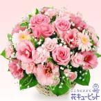 お見舞い 花キューピットのピンクアレンジメント