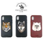 スマホケース iPhoneXS iPhoneX iPhone7 iPhone8 Plus スマホカバー アイフォン ケース 刺繍 アニマル 虎 狼 猫 サンタ バーバラ Santa Barbara Polo