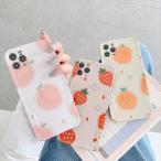 iPhone 11 Pro SE2 XR ケース iPhone8 スマホケース いちご もも みかん オレンジ XS MAX X iPhone7 Plus iPhoneケース カバー パステル
