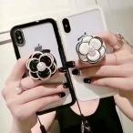 iPhone XR ケース iPhone8 スマホケース カメリア XS MAX X iPhone7 Plus iPhoneケース 6s カバー 人気 シンプル 花 エアバッグスタンド ジョイソケッツ