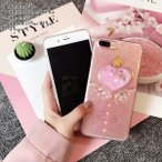 スマホケース iPhoneXS iPhoneX iPhone7 Plus iPhone8 Plus スマホカバー アイフォン ケース アイホン ハート スター 星 キラキラ 天使 羽 かわいい 韓国 立体