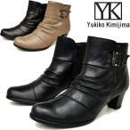 ショッピングブーティー Yukiko Kimijima ユキコ キミジマ シャーリングデザイン本革レザーショートブーツ ブーティー 7192
