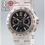 ブルガリ BVLGARI ディアゴノ プロフェッショナル クロノグラフ DP42SCH 自動巻 メンズ 腕時計 黒 ブラック ウォッチ オートマチック 中古